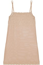 Commando Stretch Lace Chemise Nude