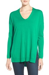 Trouve Women's Trouve V Neck Tunic Sweater Green Golf