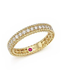 Roberto Coin 18K Yellow Gold Symphony Braided Ring With Diamonds White Gold