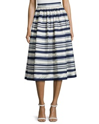 Erin Fetherston Quinne Striped Midi Skirt