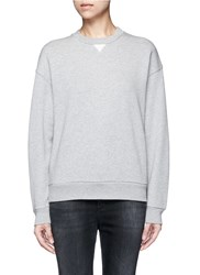 Alexander Wang French Terry Cotton Blend Sweatshirt Grey