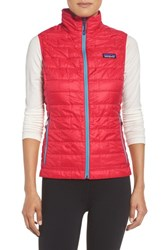 Patagonia Women's 'Nano Puff' Insulated Vest French Red