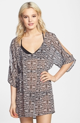 Volcom 'Sister Tribe' Print Sheer Cover Up Multi