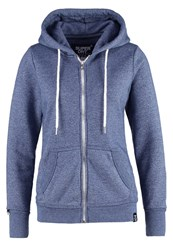 Superdry Luxe Tracksuit Top Estate Blue Jaspe