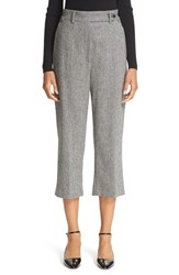 Red Valentino Women's Wool Blend Herringbone Crop Pants