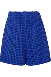 M Missoni Broderie Anglaise Cotton Shorts Blue