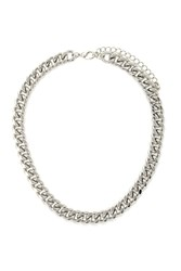 Forever 21 Curb Chain Necklace Silver