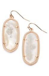 Kendra Scott Women's 'Elle' Drop Earrings Ivory Mop Rose Gold