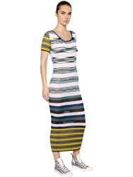 Missoni Ribbed Striped Viscose Knit Dress