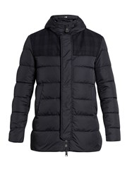 Herno Polar Tech Quilted Down Jacket Navy