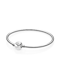 Pandora Design Pandora Bracelet Sterling Silver Bangle With Barrel Clasp Moments Collection