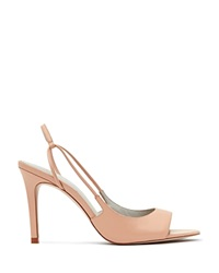 Reiss Slingback Sandals Iona High Heel Apricot
