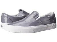Vans Classic Slip On Tumble Patent Gray Skate Shoes