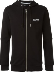 Blood Brother Zipped Up Hoodie Black