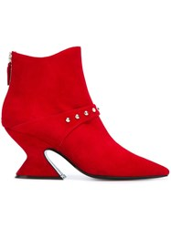 Dorateymur 'Radio' Ankle Boots Red