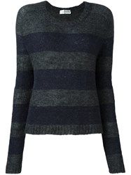 Faith Connexion Striped Jumper Grey
