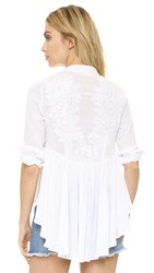 Mara Hoffman Embroidered Back Blouse White