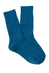 Shimera Cozy Rib Crew Socks Blue