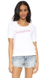 Sundry Sunshine Short Sleeve Top White