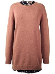 N 21 No21 Long Pullover Pink Purple