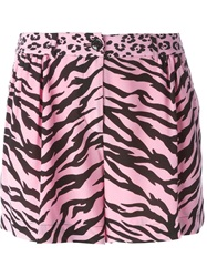 Moschino Cheap And Chic Animal Print Shorts Pink And Purple