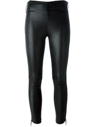Giuseppe Zanotti Design Side Zip Leggings Black