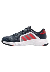 Adidas Performance Barricade Court 2 Outdoor Tennis Shoes Collegiate Navy Vivid Red White Blue