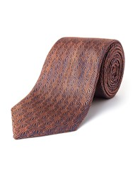 Paul Costelloe Radar Silk Tie Rust