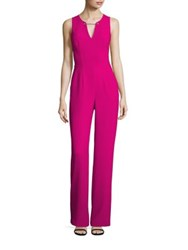 Trina Turk Toggle Chain Accented Jumpsuit Magenta