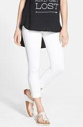 Women's Lysse Cuffed Denim Crop Leggings White