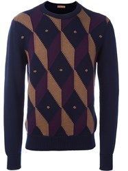 Etro Diamond Shaped Jumper Blue