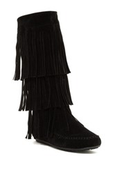 Liliana Copley Fringe Boot Black