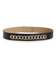 St. John Leather Chainlink Belt Black
