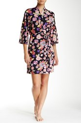 Josie Pop Floral Robe Black