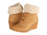 Timberland Earthkeepers Amston Roll Top Wheat Women's Lace Up Boots Tan