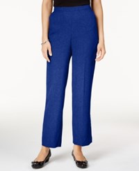 Alfred Dunner Petite Crescent City Pull On Straight Leg Pants Sapphire