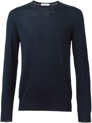 Paolo Pecora Crew Neck Sweater Blue