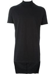 Y 3 Mock Neck T Shirt Black