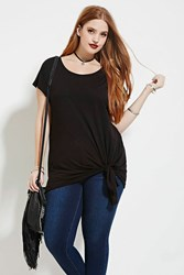 Forever 21 Plus Size Self Tie Top Black