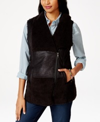 American Rag Faux Sherpa Zip Front Vest Only At Macy's Black