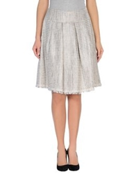 Erika Cavallini Semi Couture Erika Cavallini Semicouture Knee Length Skirts White