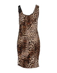 Guess By Marciano Knee Length Dresses Brown
