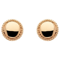 Finesse Rose Gold Plated Polished Circle Earrings Rose Gold
