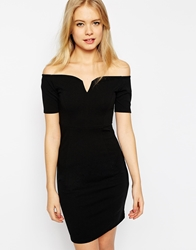 Vero Moda Bardot Bodycon Dress Black