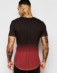 Religion T Shirt With Dip Dye Back Panel Indian Red