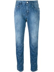 Stella Mccartney Star Accent Straight Fit Jeans Blue