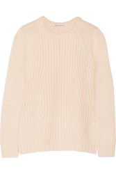 Autumn Cashmere Textured Knit Sweater Pink