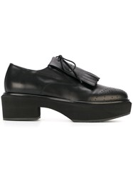 Paloma Barcelo Platform Lace Up Loafers Black