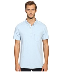 Todd Snyder Weathered Pocket Polo Pale Surf