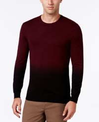 Vince Camuto Men's Dip Dyed Sweater Port Fade